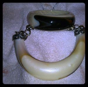 Express necklace and bangle bracelet